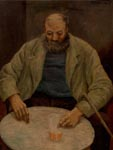 Oil painting of a Sark fisherman, Sark , 1934