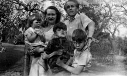 Family Group, in the orchard of their home in Smarden , Kent , 1953