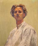 Self-portrait in oils, 1933. Hangs at the Guernsey Museum & Art Gallery